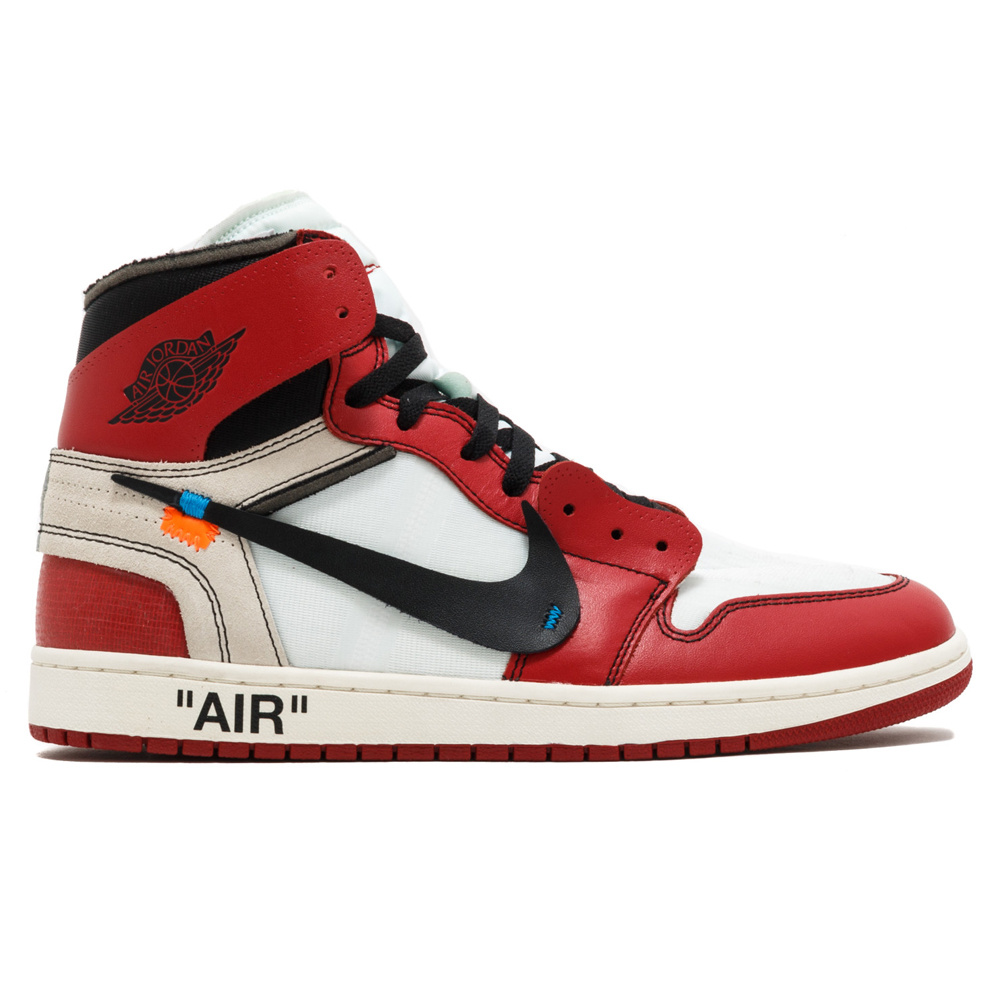 sale retailer c61e8 3272c JordanAir Jordan 1 Off White The TenAA3834 101WHITE BLACK-VARSITY RED